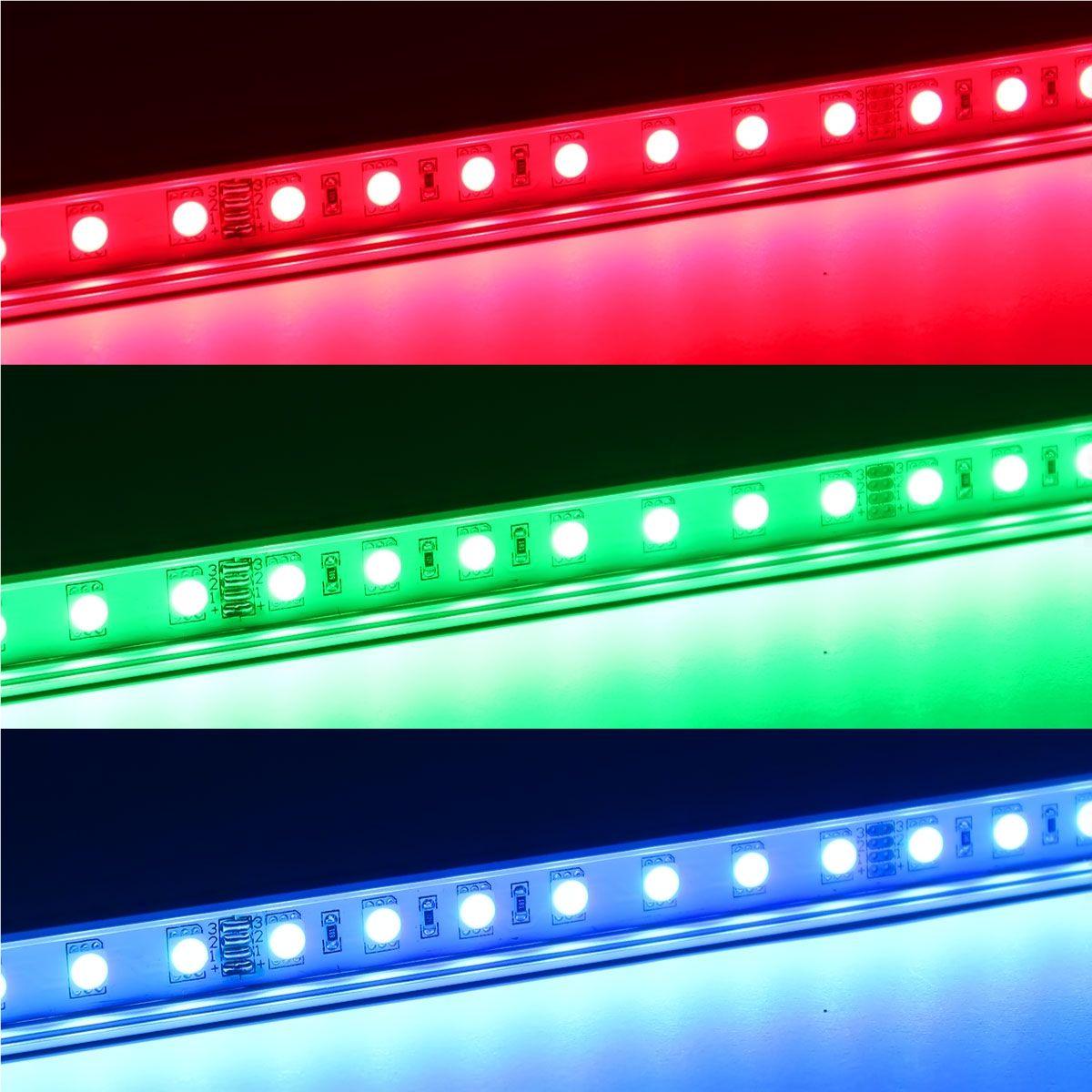 12V Slim-Line Aluminium LED Leiste – RGB – transparente Abdeckung