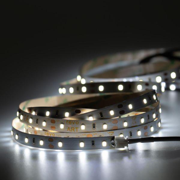 12V LED Streifen – weiß – 60 LEDs je Meter – alle 5cm teilbar - 500cm
