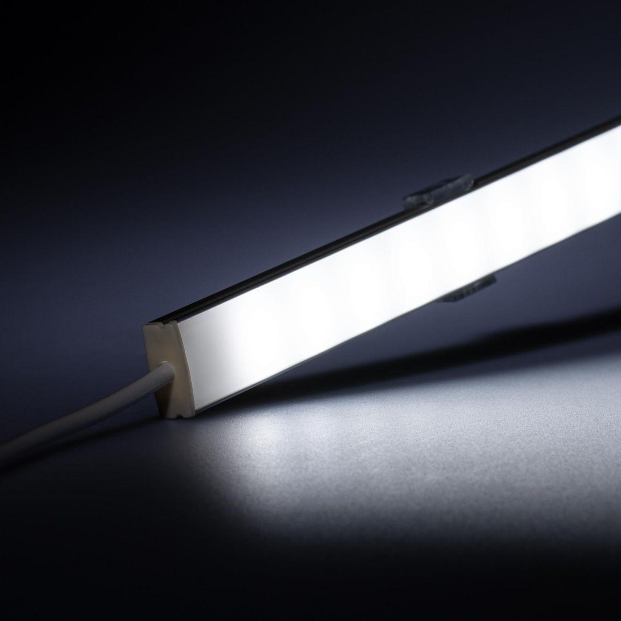 12V Slim Line Aluminium LED Leiste – weiß – diffuse Abdeckung