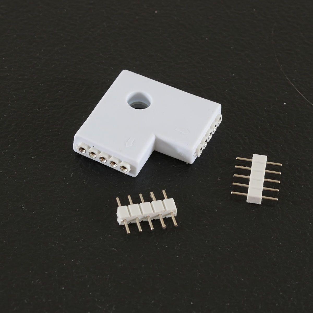 Quick-System 5polig 2.54 – Eckverbinder flach 2x5polig – weiß