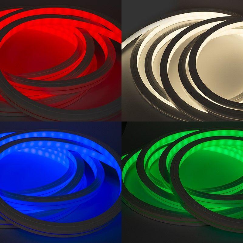 24V wasserfester flexibler LED Lichtschlauch – RGB-W– diffus – Neon-Effekt – IP67 15x15mm