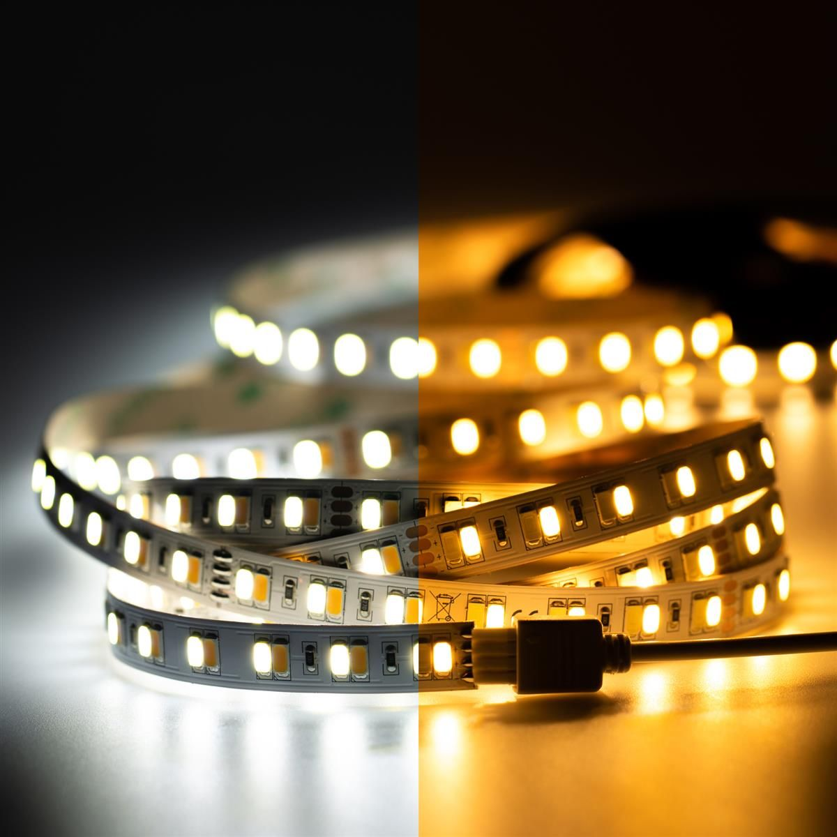 24V LED Streifen – Farbtemperatur einstellbar – 140 LEDs je Meter – alle 10cm teilbar
