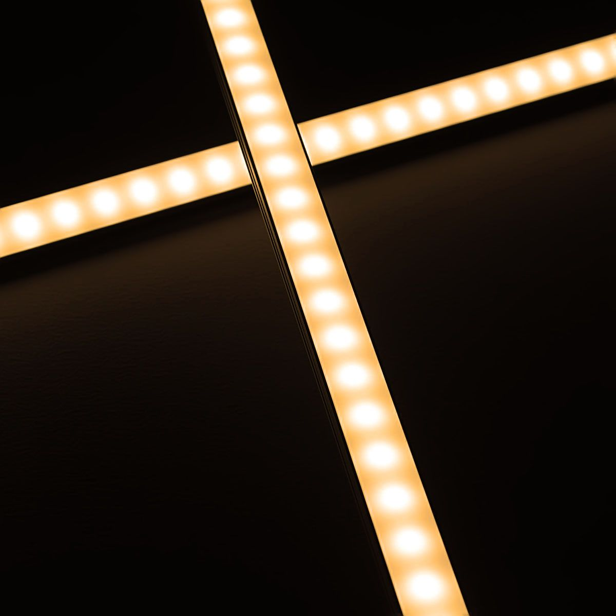 24V wasserfeste Aluminium LED Leiste – warmweiß – 100cm – diffuse Abdeckung – IP65