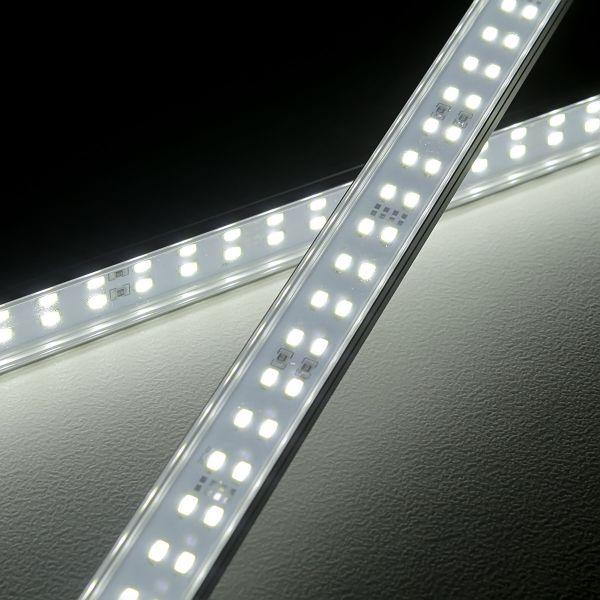 24V High-Power Aluminium LED Leiste – weiß – transparente Abdeckung