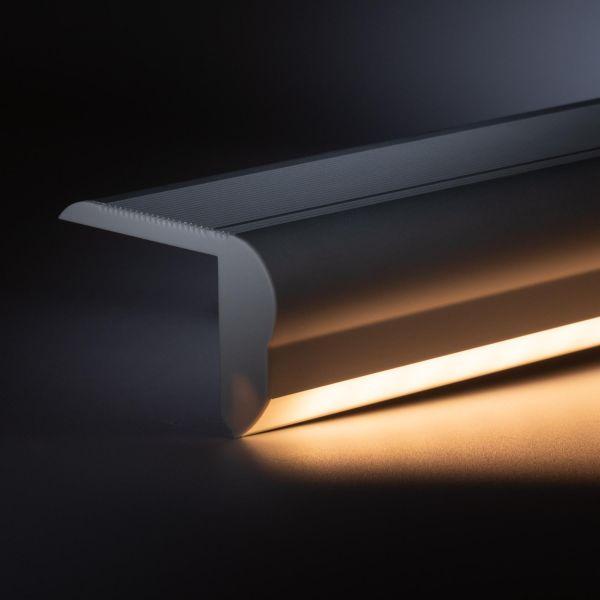 12V Aluminium Treppenstufen LED Leiste - warmweiß - diffuse Abdeckung