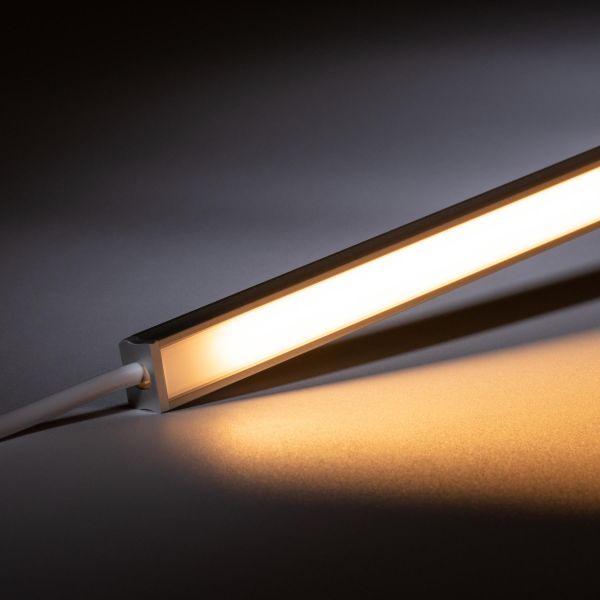 24V mini Aluminium LED Leiste – warmweiß – diffuse Abdeckung