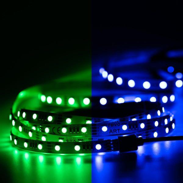 12V LED Streifen – RGB – 60 LEDs je Meter – alle 5cm teilbar