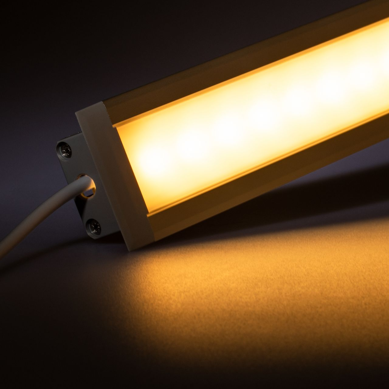 12V Aluminium Einbau LED Leiste – High Power - warmweiß – diffuse Abdeckung