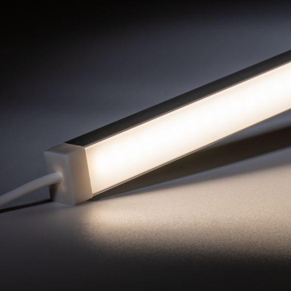 24V wasserfeste Aluminium LED Leiste - tageslichtweiß - diffuse Abdeckung - IP65