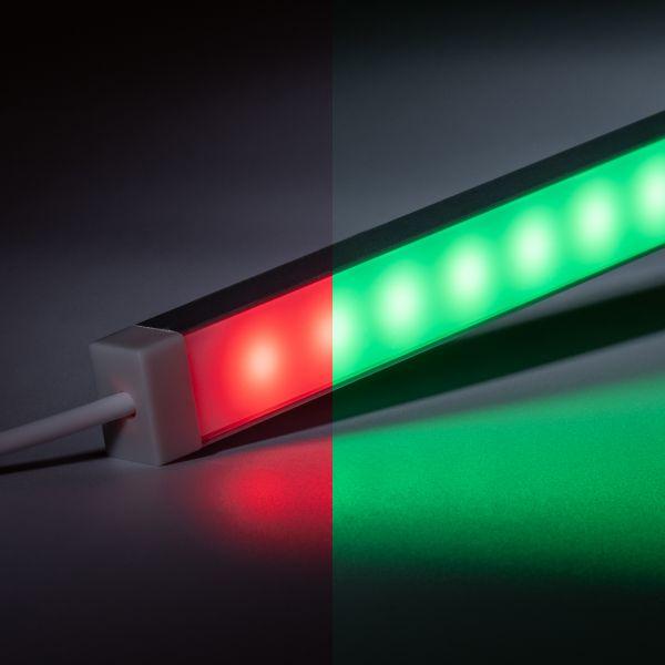 24V wasserfeste Aluminium LED Leiste - RGB - diffuse Abdeckung - IP65