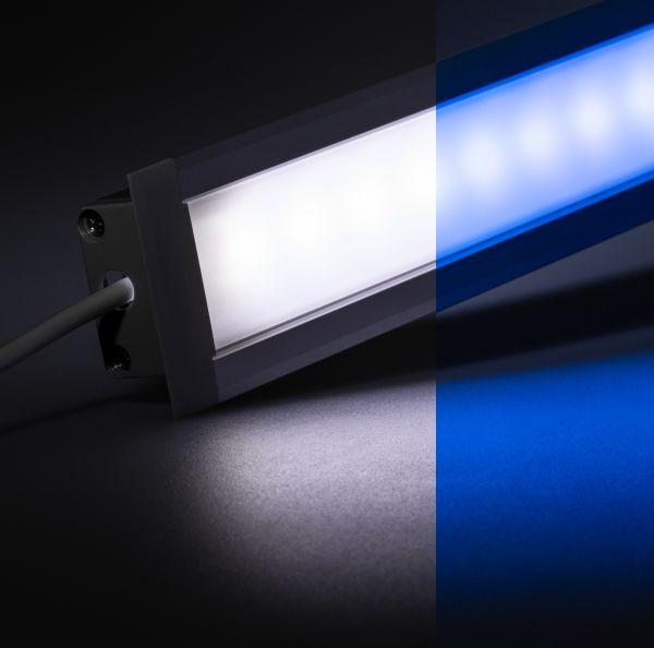 12V Aluminium Einbau LED Leiste – RGBW – diffuse Abdeckung