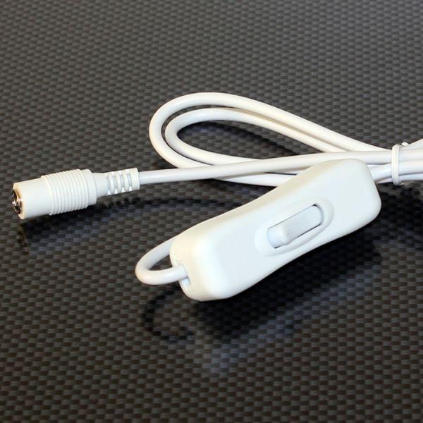 Z2P 2polig – Anschlusskabel zum Netzteil mit Schalter– 100cm