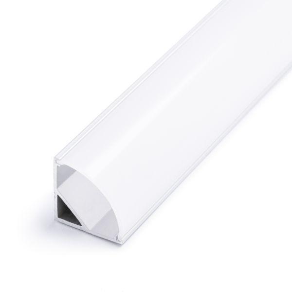 Aluminium LED Eck Profil, round line, 1,6 x 1,6cm