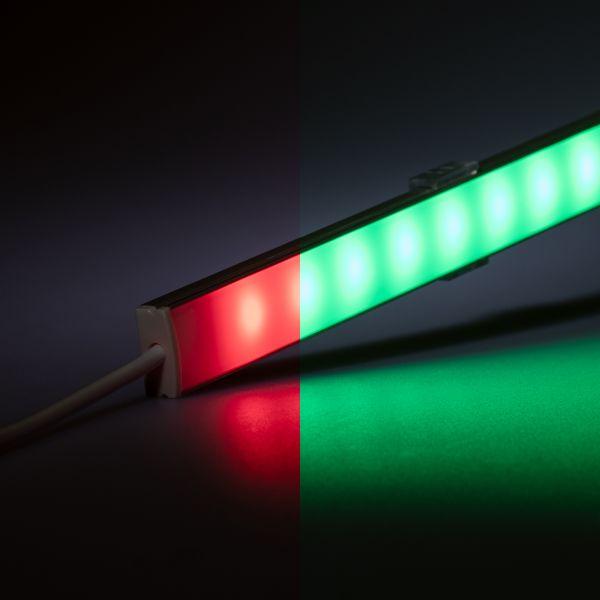 24V wasserfeste Aluminium LED Leiste – RGB – 100cm – diffuse Abdeckung – IP65