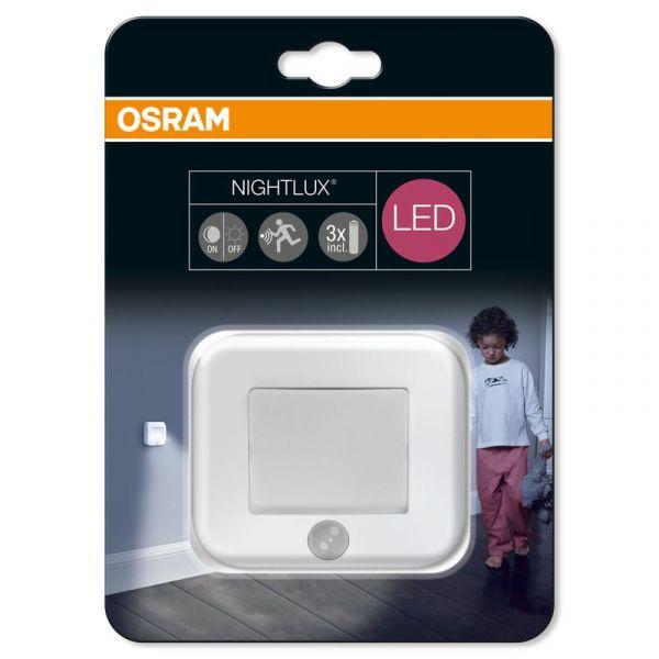 Osram Nightlux LED Nachtlicht inkl. Bewegungsmelder, mit Batterie in Tageslichtweiß, IP54