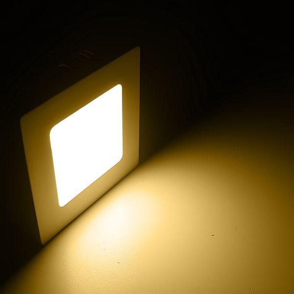LED-Wandleuchte eckig diffus 120x120 LED-Deckenleuchte 6Watt 230V - warmweiß