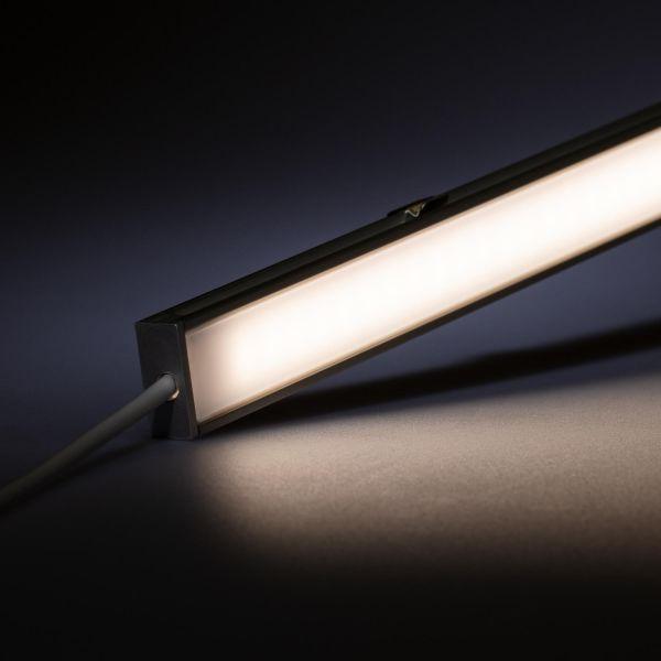 24V spritzwassergeschütze Aluminium LED Leiste – tageslichtweiß – diffuse Abdeckung - IP54