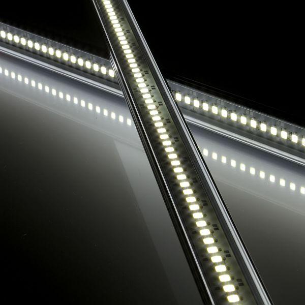 12V wasserfeste Aluminium LED Leiste – weiß – 50cm– transparente Abdeckung – IP65