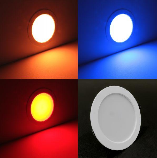 RGBWW LED Einbauleuchte - rund Ø 175mm warmweiß und farbig - 24VDC