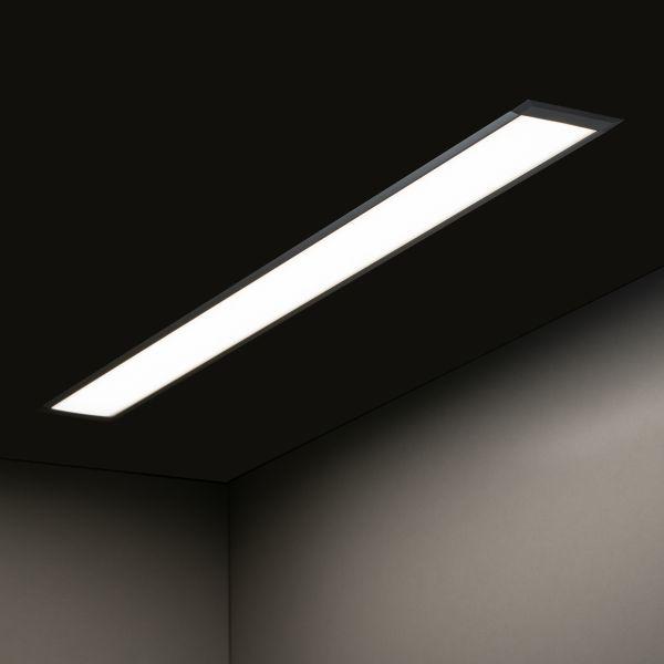 24V Aluminium LED Einbauleuchte – tageslichtweiß – linear – diffuse Abdeckung