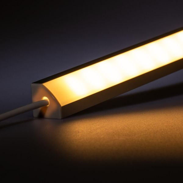 12V Aluminium LED Eckleiste – High Power - warmweiß – diffuse Abdeckung
