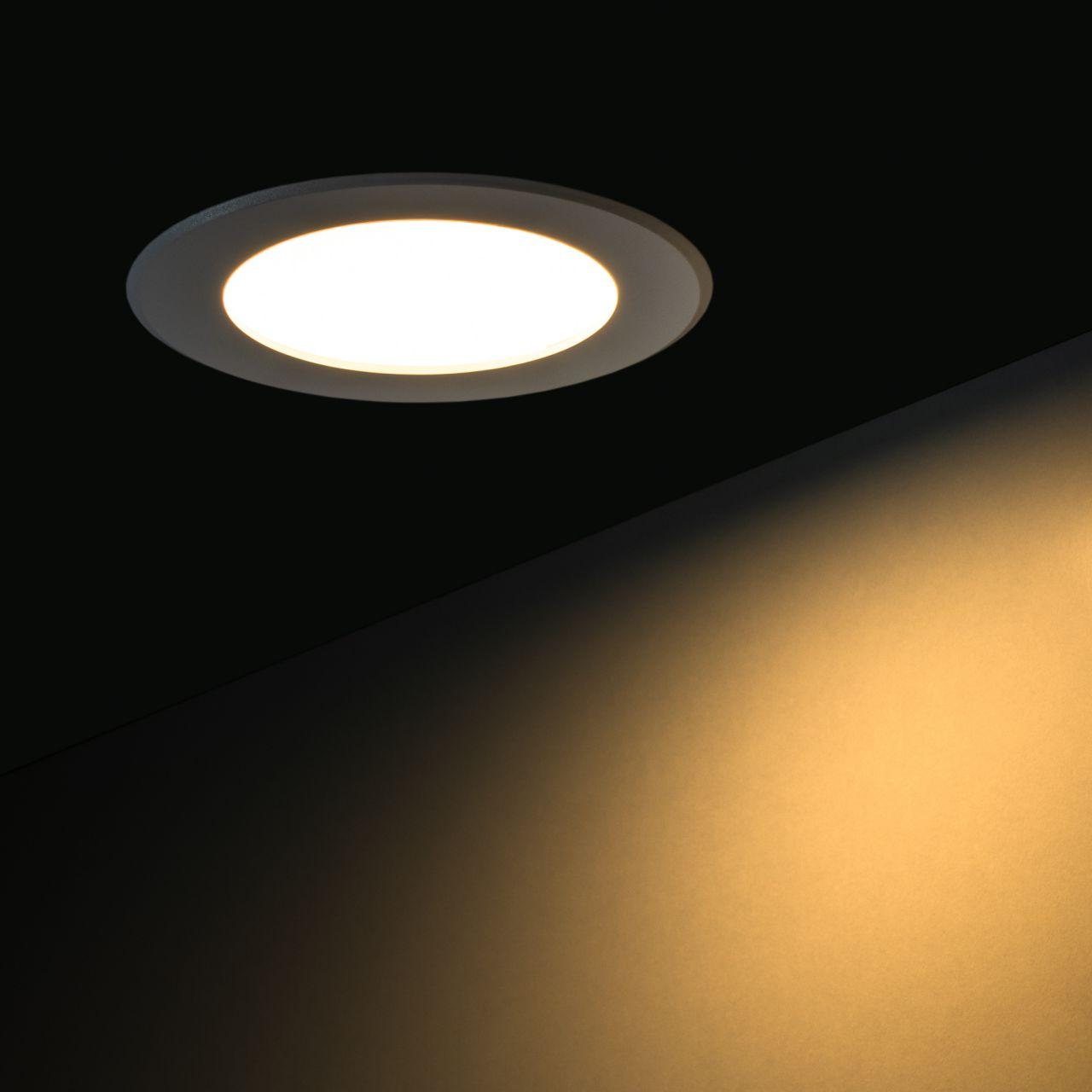 230V LED-Einbauleuchte – warmweiß – 30cm – rund