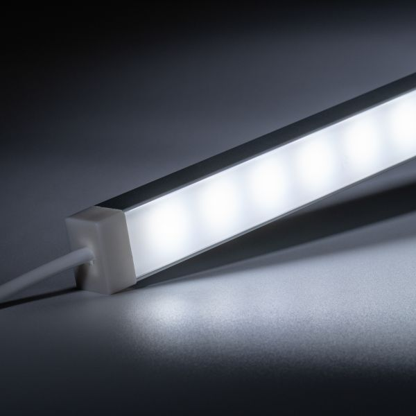 12V wasserfeste Aluminium LED Leiste - weiß - diffuse Abdeckung - IP65