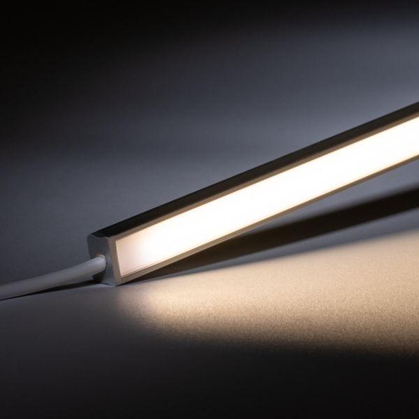 24V mini Aluminium LED Leiste – tageslichtweiß – diffuse Abdeckung