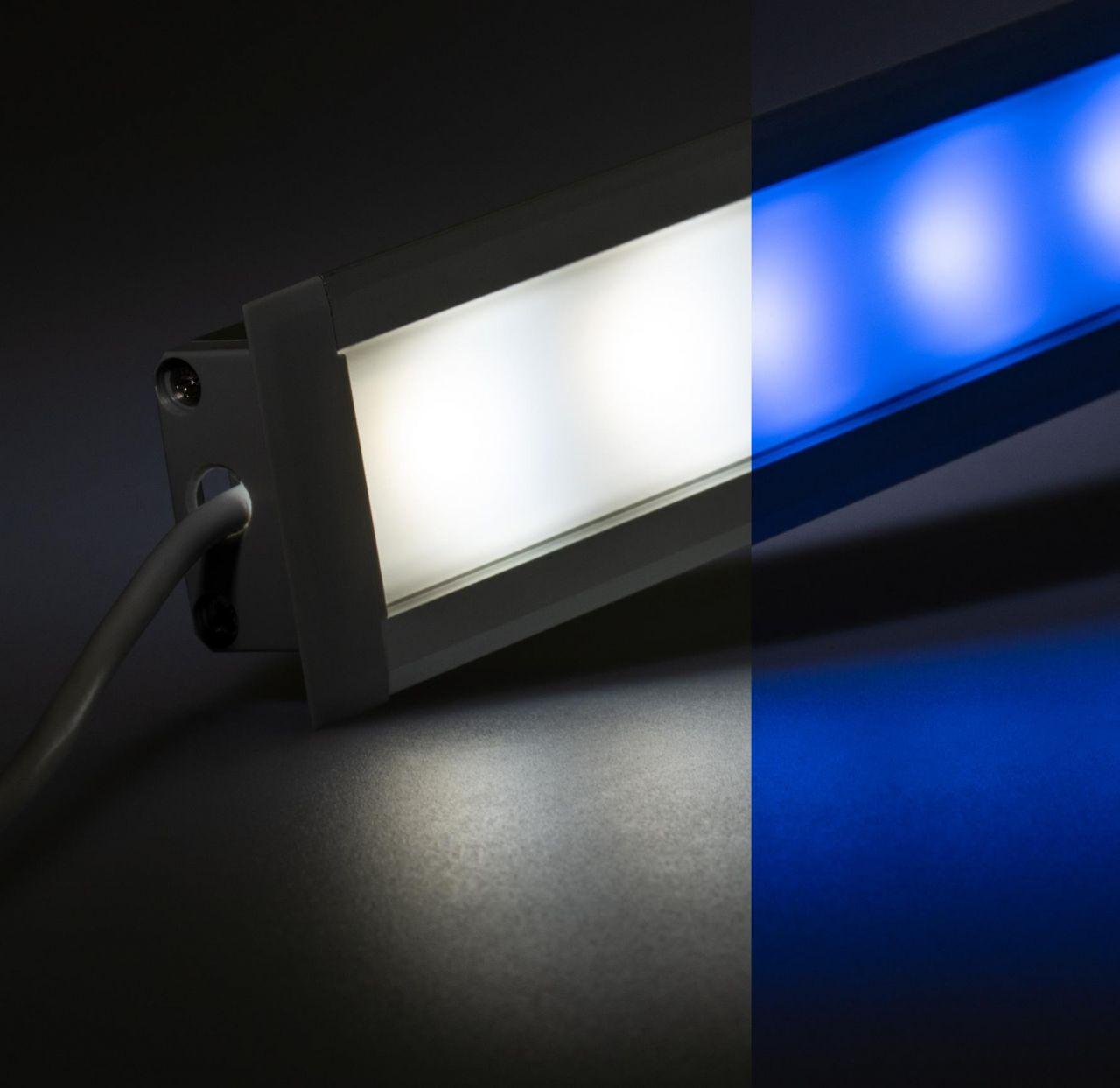 24V Aluminium Einbau LED Leiste – RGBW ( RGB + weiß ) – diffuse Abdeckung
