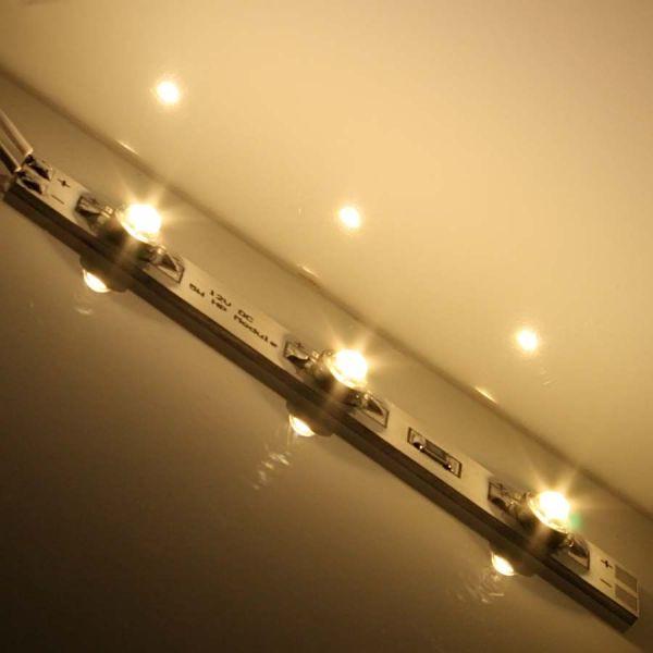 ALU Platine 100mm - 3 x XcelLED High-Power LEDs 12V - warmweiß 120°