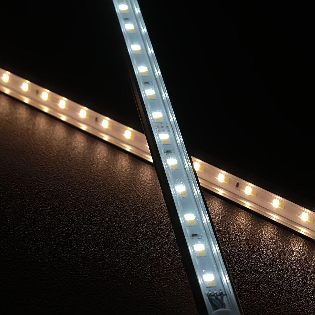 24V Slim-Line Aluminium LED Leiste – Farbtemperatur einstellbar – transparente Abdeckung