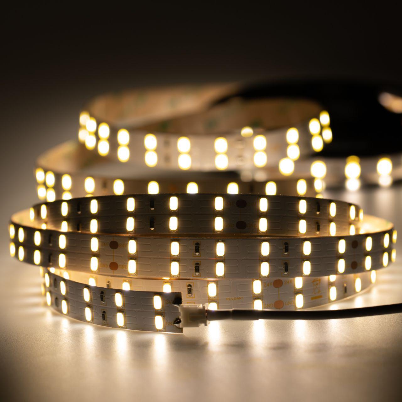 24V Double Line High-Power LED Streifen – tageslichtweiß – 120 LEDs je Meter – alle 10cm teilbar