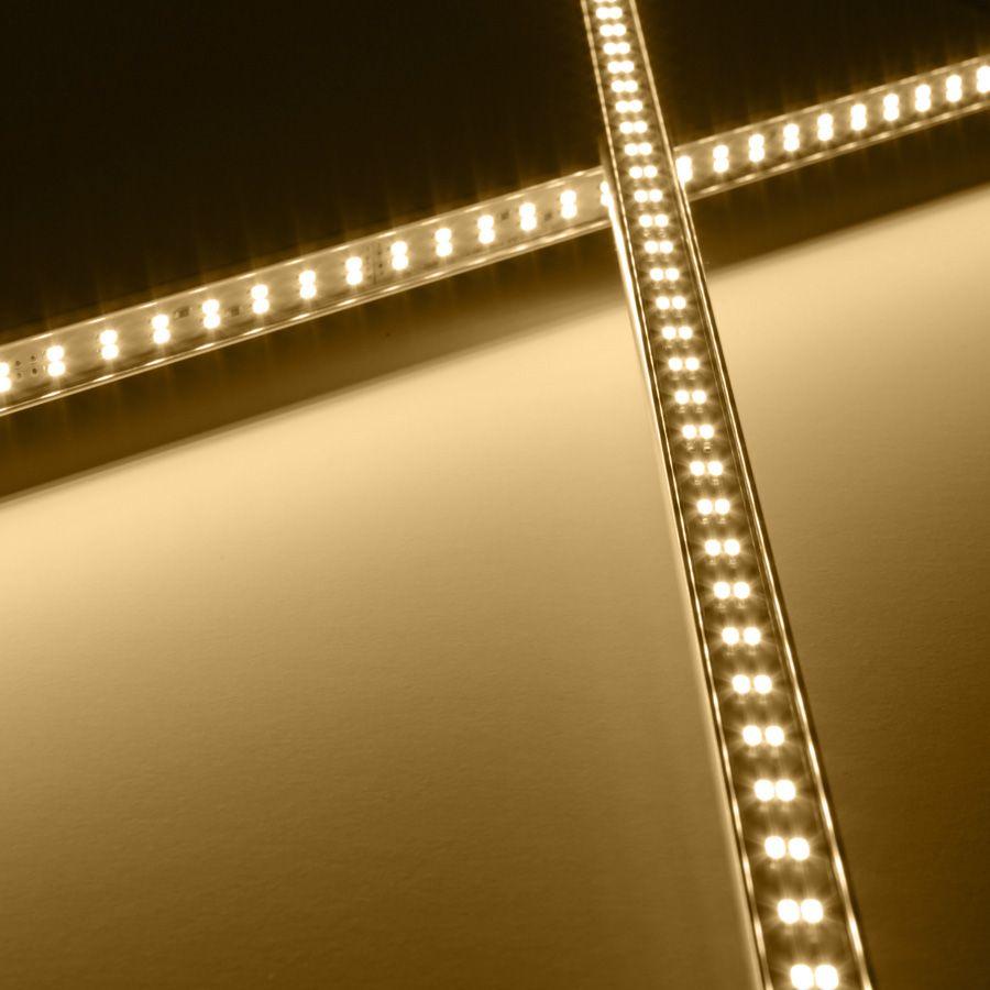 24V Aluminium TWIN LED Leiste – warmweiß – einstellbare Abstrahlrichtung