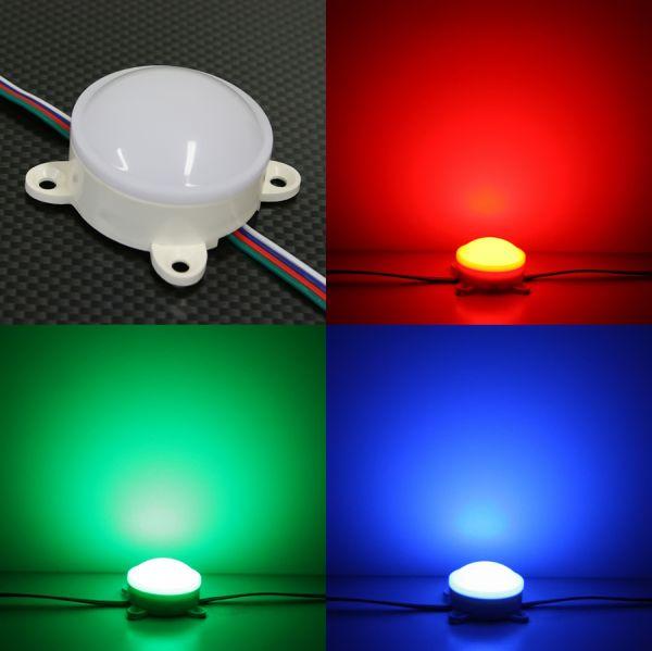 24V wasserfestes LED Modul – RGB – rund – diffuse Abdeckung – IP65
