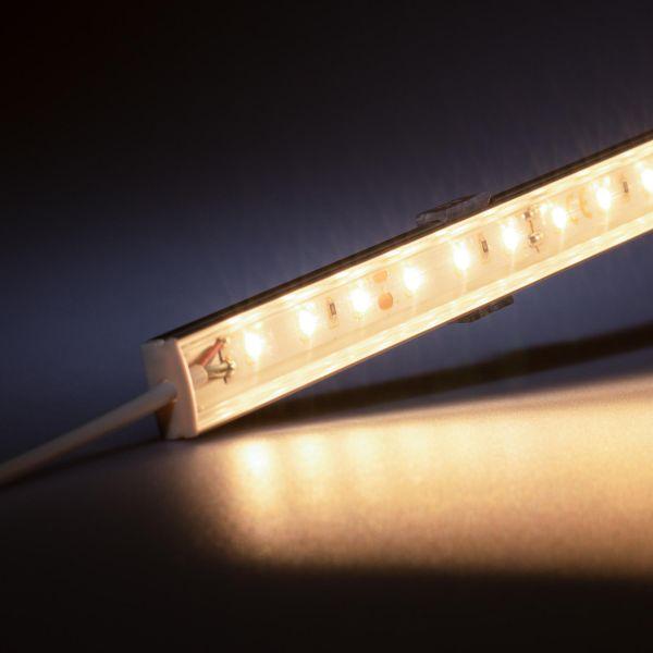 12V Slim Line Aluminium LED Leiste – warmweiß – transparente Abdeckung