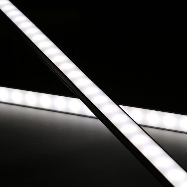 Slim-Line Alu LED-Lichtleiste ab 33cm mit 18x 5630 LEDs - Abdeckung diffus - 12V - weiß