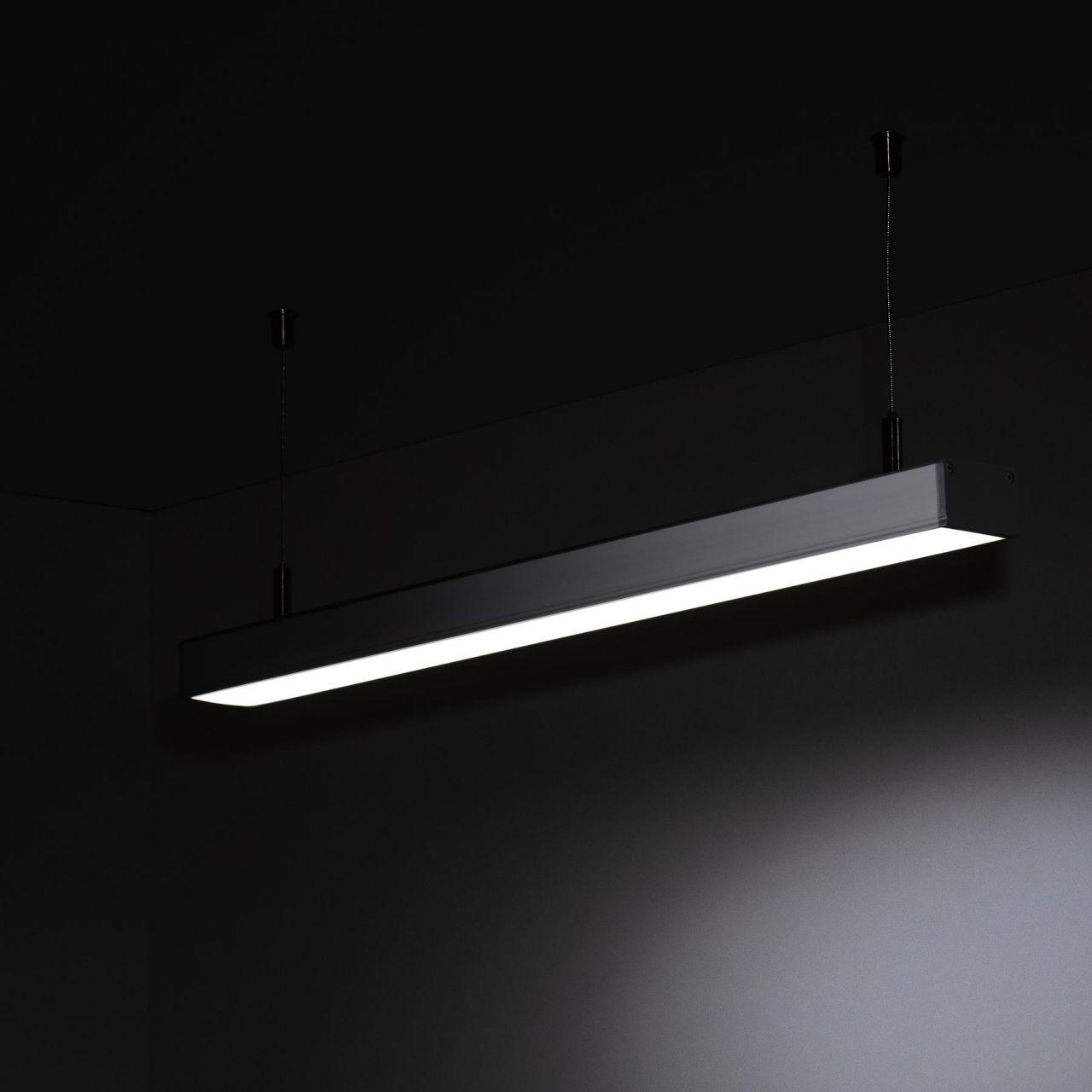 24V Aluminium LED Pendelleuchte – weiß – linear – diffuse Abdeckung