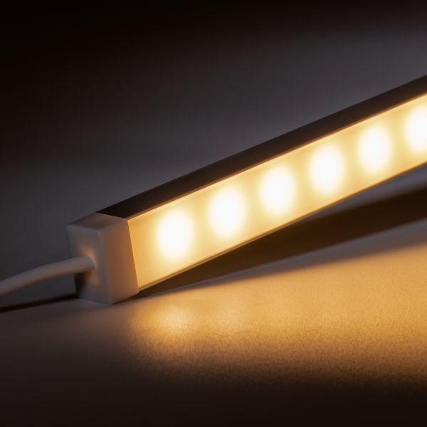 12V wasserfeste Aluminium LED Leiste - warmweiß - diffuse Abdeckung - IP65
