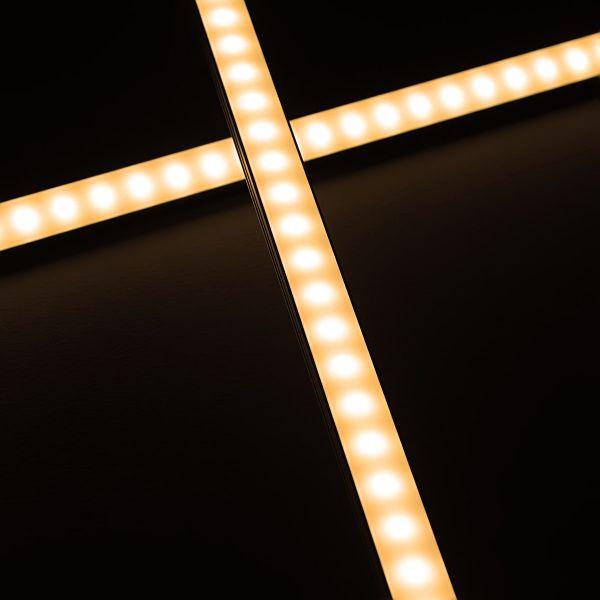 eXtreme-Line ALU LED-Leiste 100cm wasserfest 24V IP65 70x 5730 LEDs - warmweiß 3000K diffus