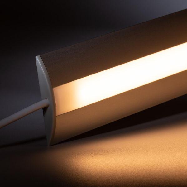 24V Aluminium Türschwellen LED Leiste - warmweiß - diffuse Abdeckung