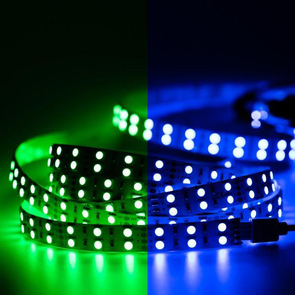 24V Double Line High-Power LED Streifen – RGB – 120 LEDs je Meter – alle 5cm teilbar