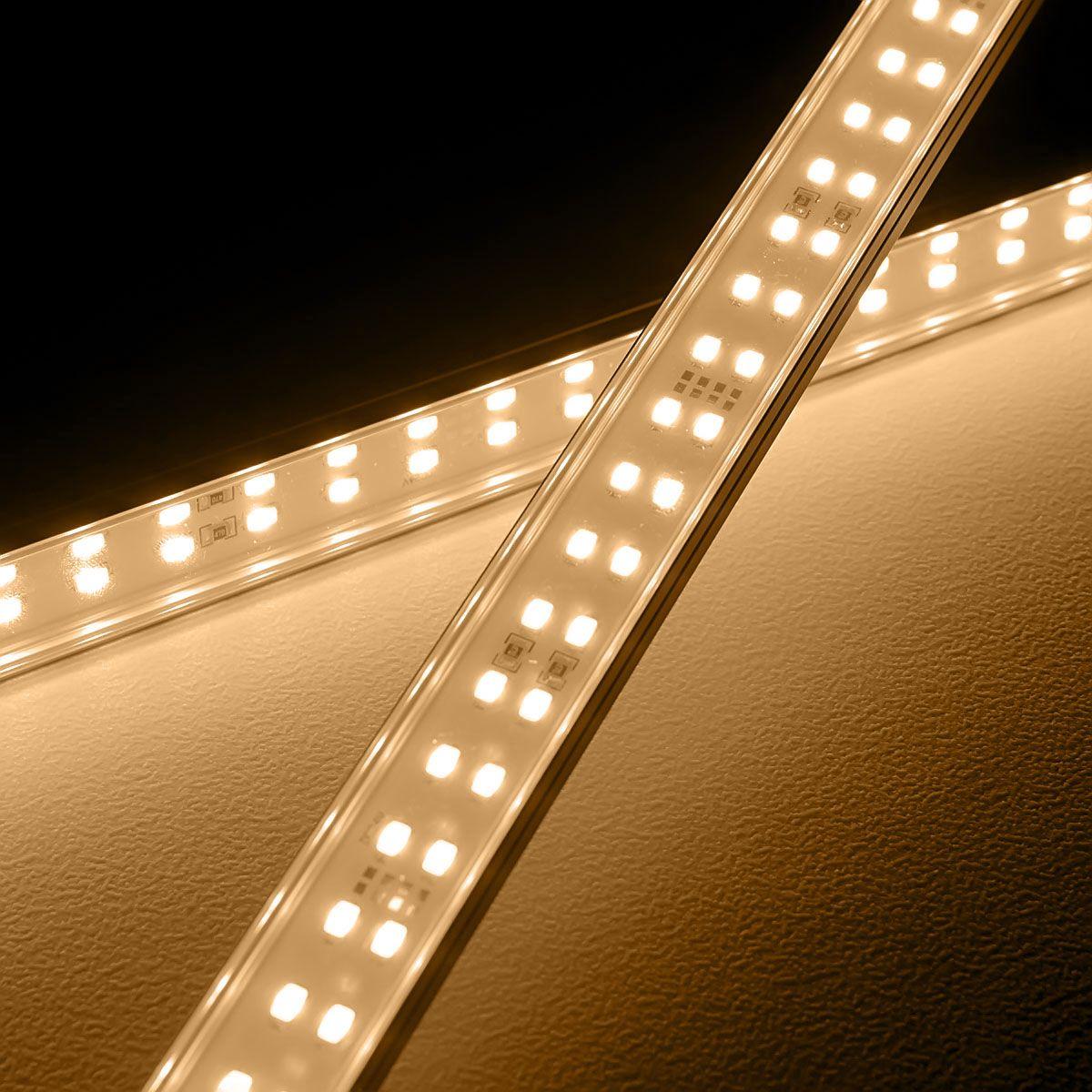 24V High-Power Aluminium LED Leiste – warmweiß – transparente Abdeckung
