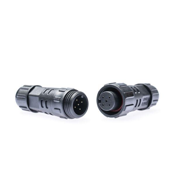 Kabelverbinder/ - Kupplung M16 5-polig schwarz wasserfest zum Löten