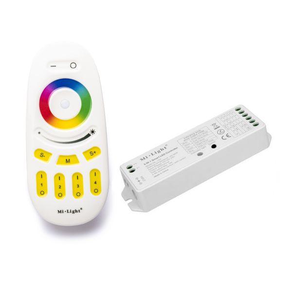 4 Zonen Funk LED Controller – 4 Kanal – RGBW – mit Touch-Fernbedienung