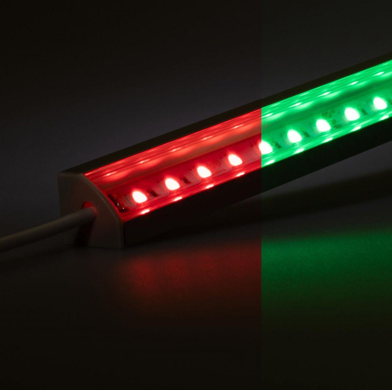 24V Aluminium LED Eckleiste – RGB – transparente Abdeckung