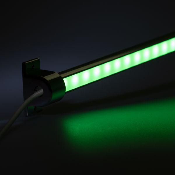 24V Aluminium LED Leiste - einstellbare Abstrahlrichtung– RGB – diffuse Abdeckung