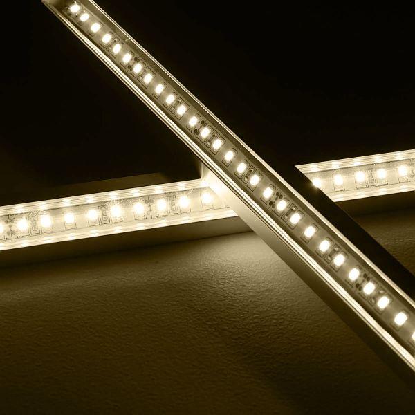 24V Aluminium LED Eckleiste – tageslichtweiß – transparente Abdeckung