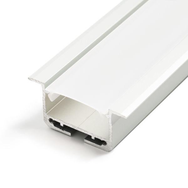 Aluminium LED Einbau Profil, ideal, 3,84 x 1,81cm