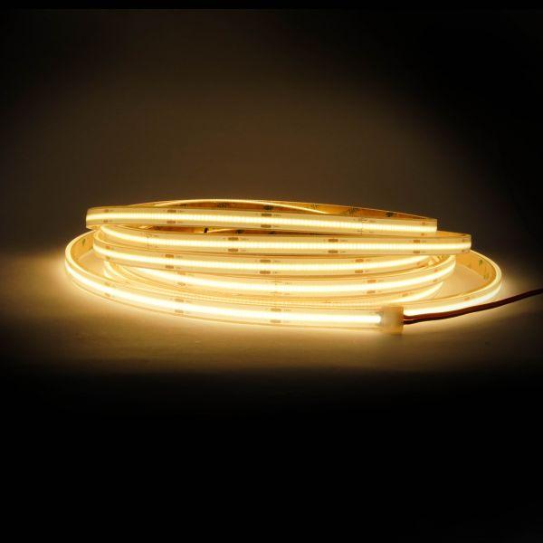24V wasserfester COB LED Streifen - warmweiß - 500cm - IP67