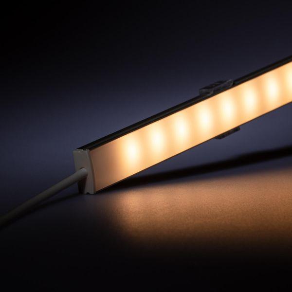 12V Slim Line Aluminium LED Leiste – warmweiß – diffuse Abdeckung
